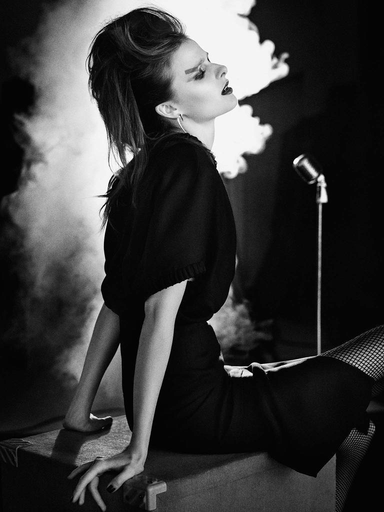 Vasilisa Pavlova stars in Harrods Magazine's February issue