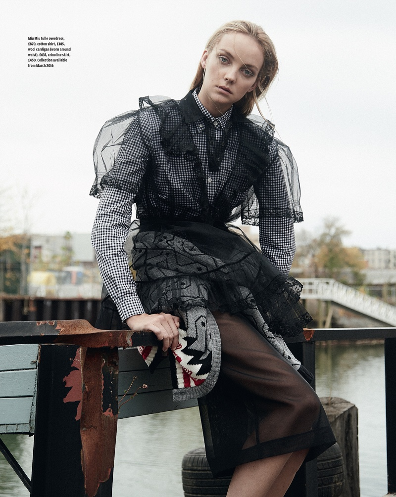 Heather Marks For Elle France: Clear Cut: Heather Marks Models Sheer Style In How To Spend It