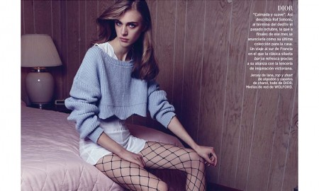 Hedvig models cropped sweater and dress from Dior
