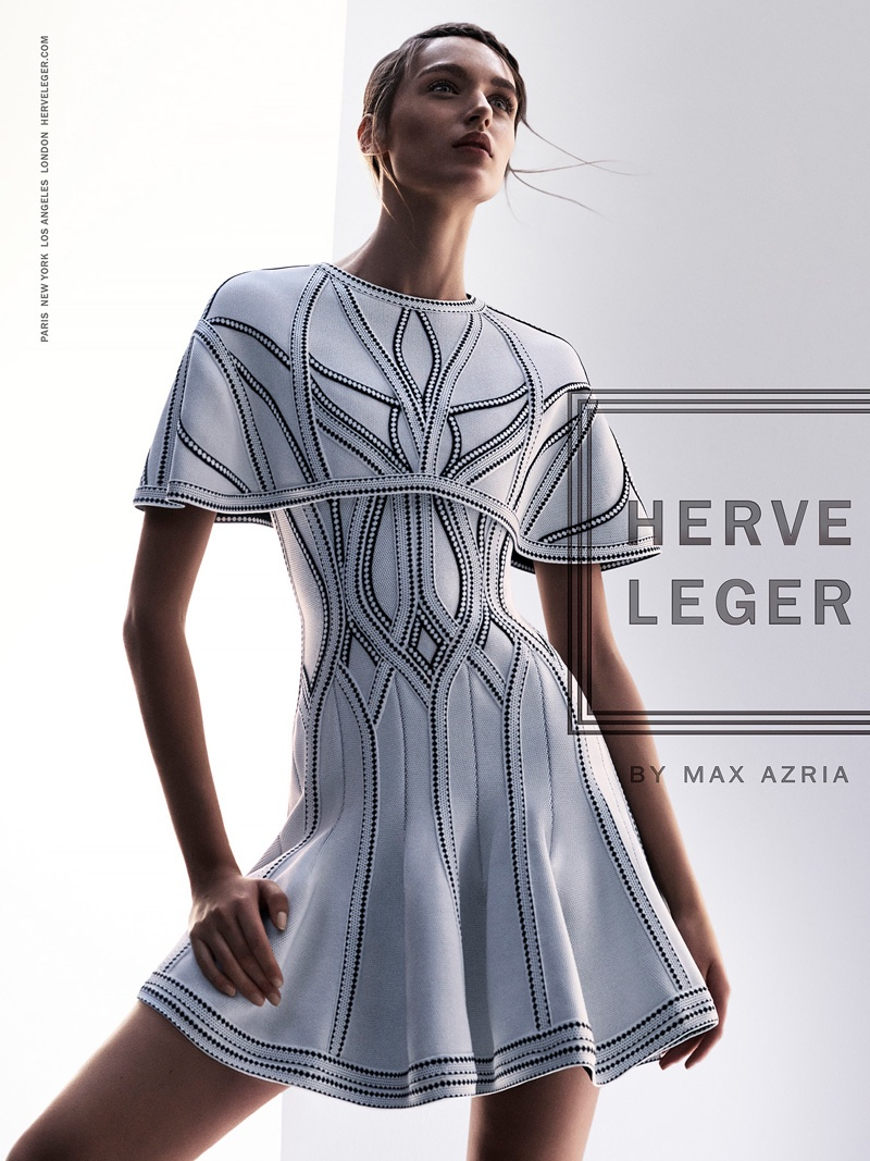 Herve Leger Flaunts The Bodycon Silhouette In Spring 2016 Ads