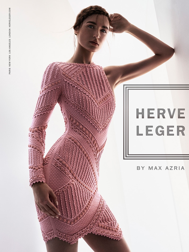 Herve Leger Flaunts the Bodycon Silhouette in Spring '16 Ads