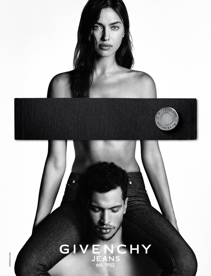 Irina Shayk poses topless in Givenchy Jeans campaign