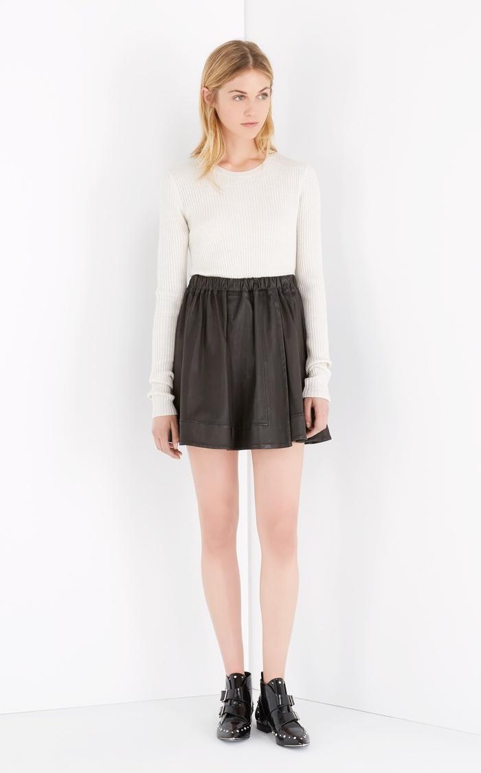 Iro Alba Leather Skirt