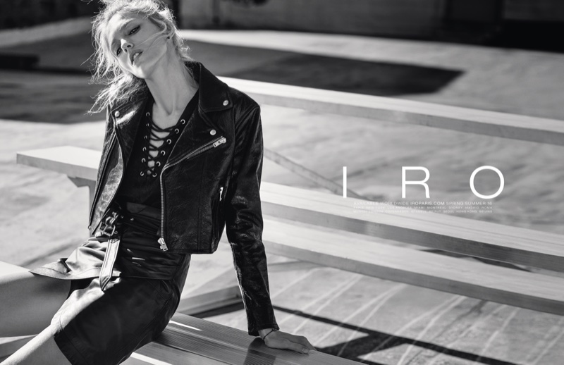 Anja Rubik Masters Leather Style In IRO`s Spring 2016 Campaign