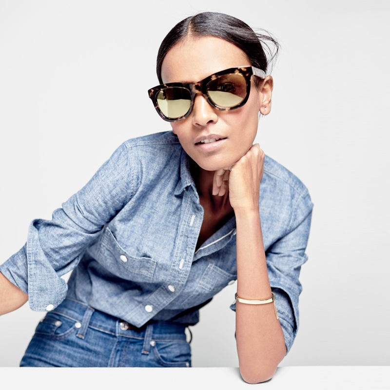 J. Crew Betty Oversized Sunglasses