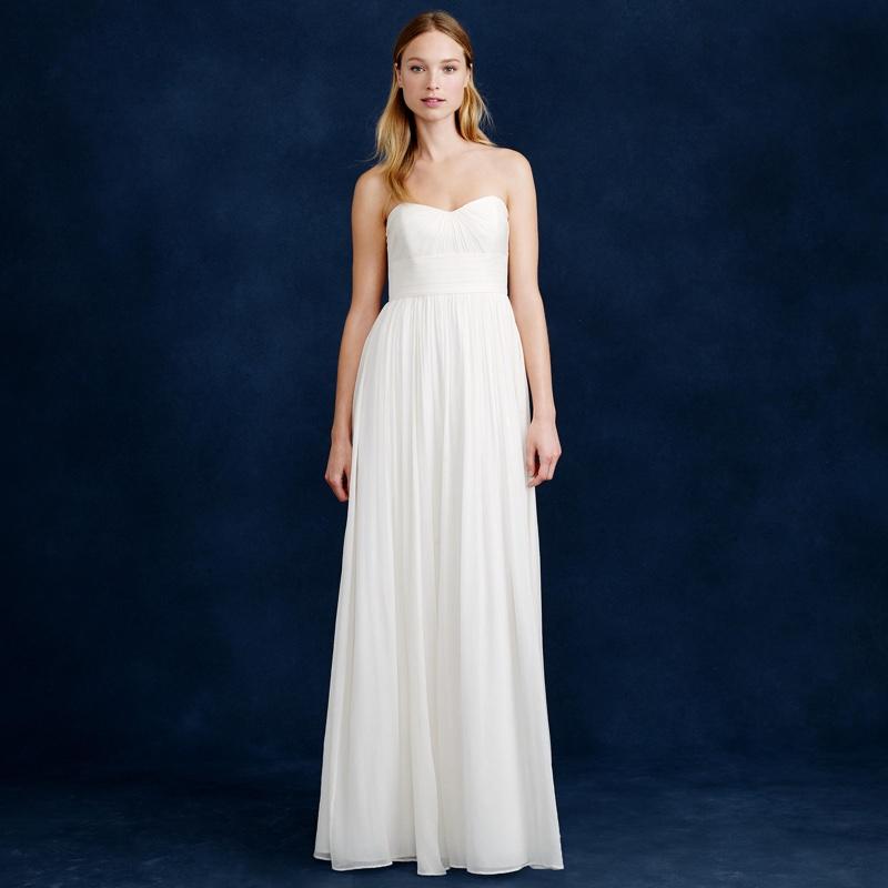 J. Crew Marbella White Gown