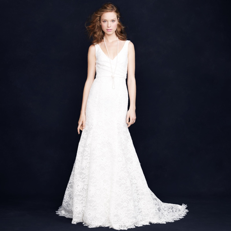 J. Crew Sara Lace Gown