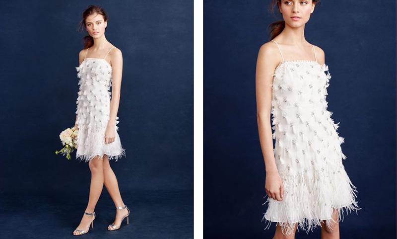 Flapper Wedding Dress 31 Popular  J Crew feather