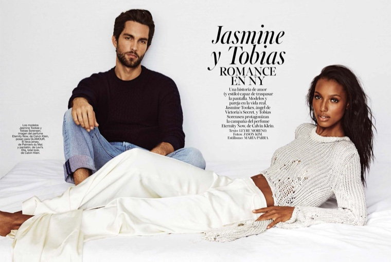 A Model Romance: Jasmine Tookes & Tobias Sorensen Pose for Glamour Spain