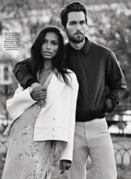 A Model Romance: Jasmine Tookes & Tobias Sorensen Pose for Glamour Spain