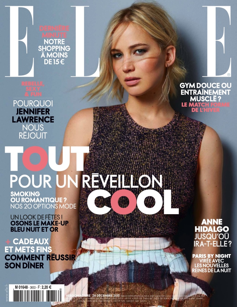 Jennifer Lawrence on Elle France December 24, 2015, cover
