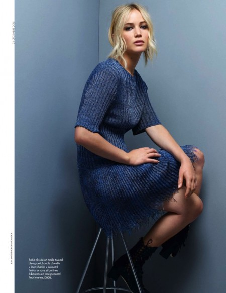 Jennifer Lawrence is a Dior Darling in ELLE France Shoot