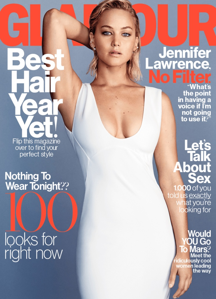 Jennifer Lawrence Heats Up Her Glamour Cover Story