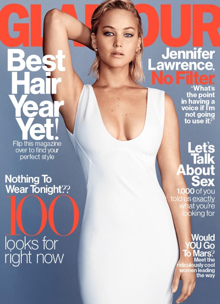Jennifer Lawrence on Glamour Magazine February 2016 cover
