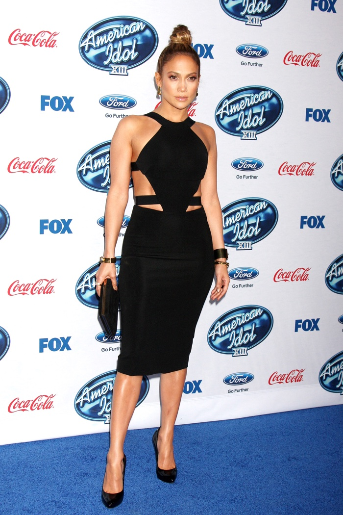 Jennifer Lopez mastered the little black dress in a Cushnie et Ochs number while attending an American Idol event in 2014. Photo: Joe Seer / Shutterstock.com