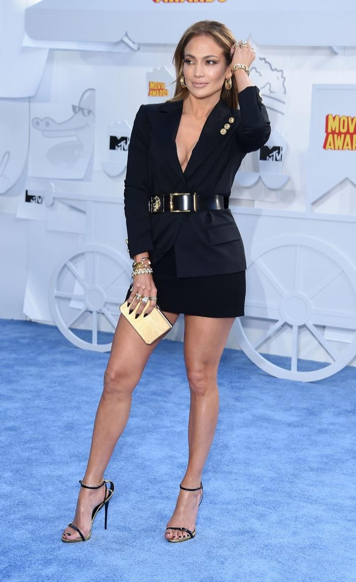 Jennifer Lopez Black Dress