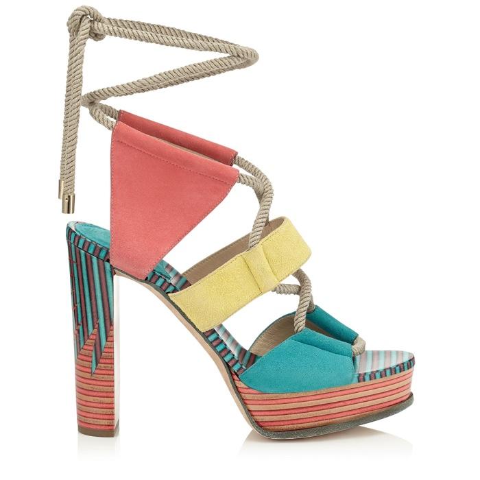 Jimmy Choo Halley 120 Suede Platform Sandals