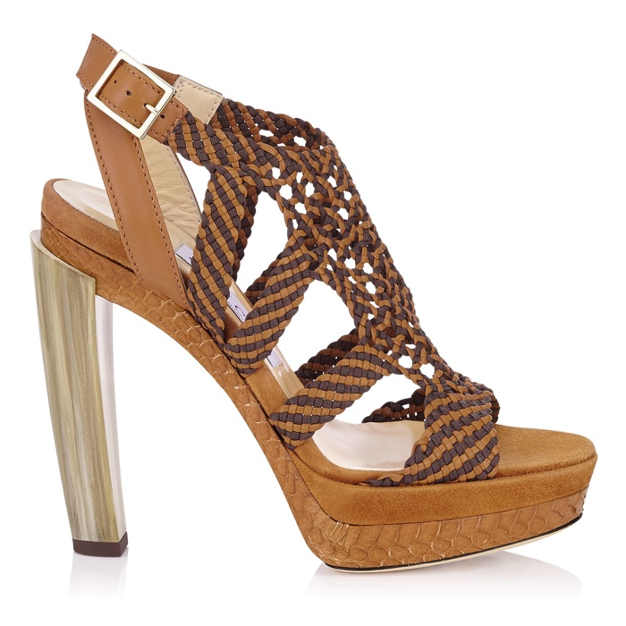 Jimmy Choo Taytum Mix Horn Heel Sandals