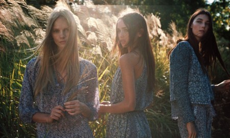 The models poses in bohemian inspired looks for Joie's spring 2016 campaign