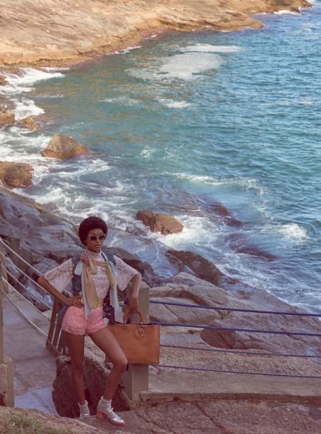 Jourdan Dunn Serves Up 70s Vibes in Vogue Brazil Editorial