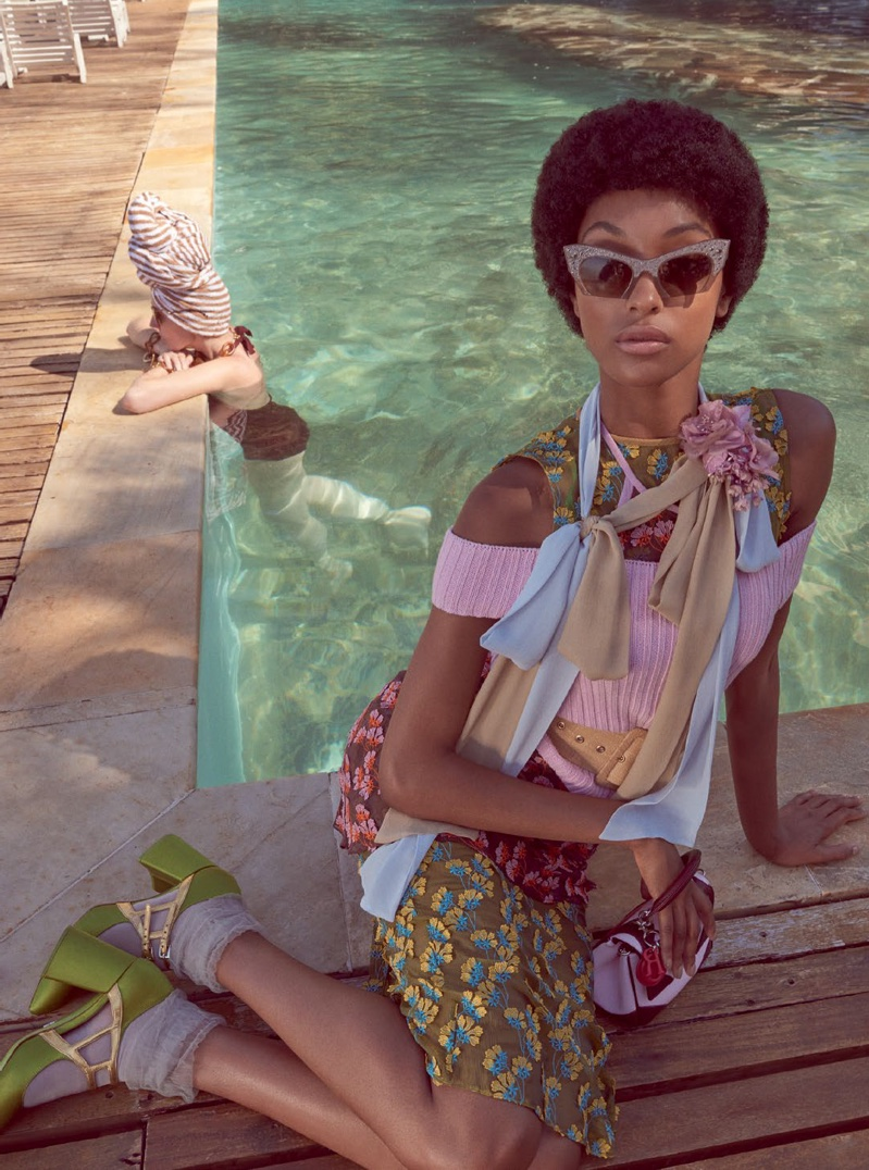Jourdan Dunn Serves Up 70s Vibes in Vogue Brazil Editorial