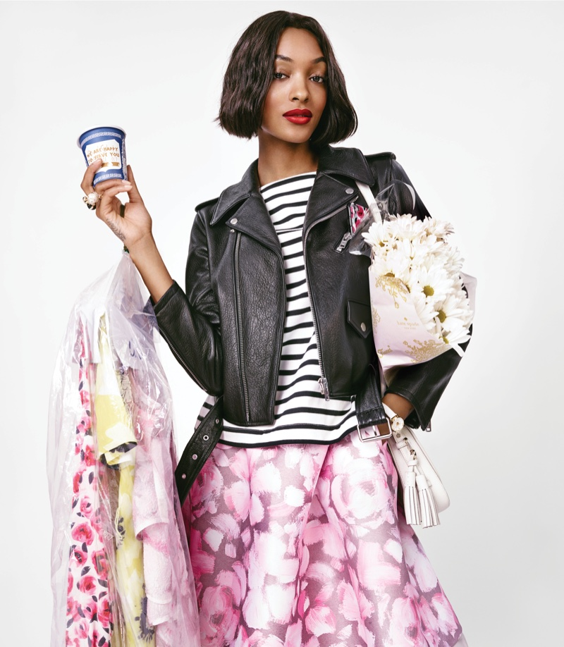 Jourdan Dunn looks like a woman on the go for Kate Spade's spring-summer 2016 campaign