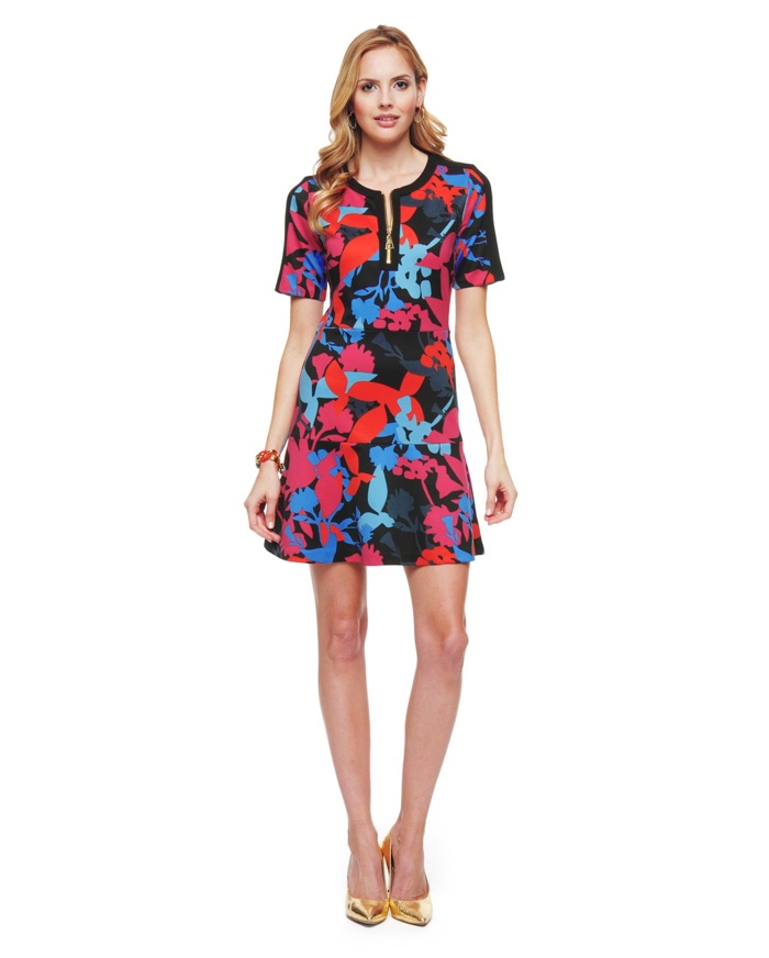 Juicy Couture Ponte Mattise Floral Dress