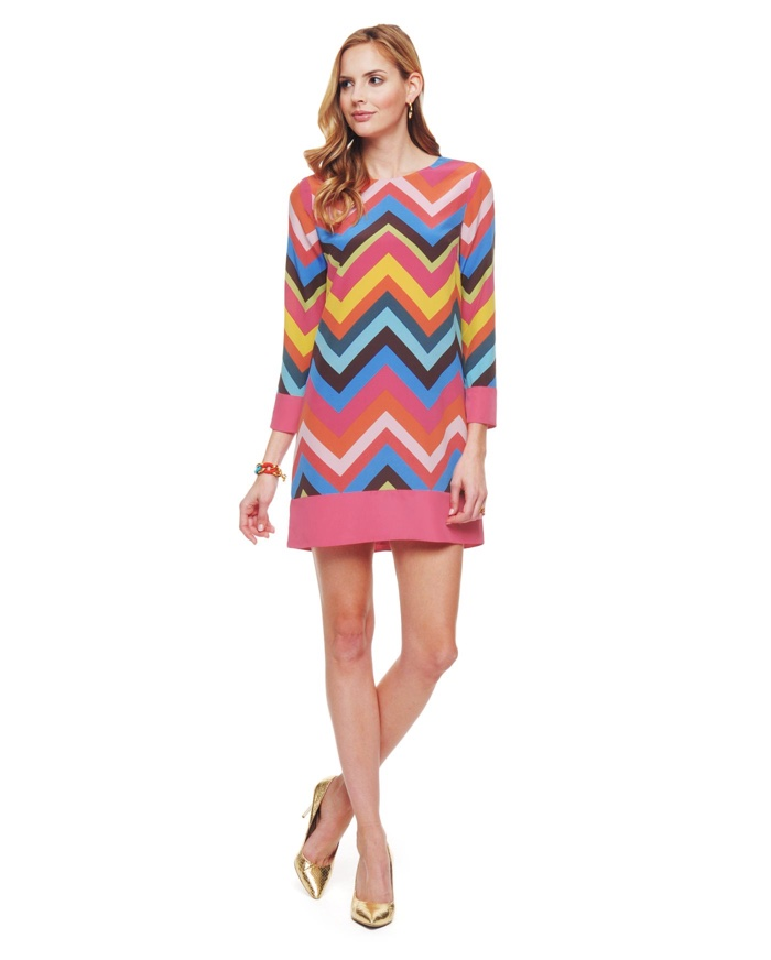 Juicy Couture Silk del Mar Chevron Dress