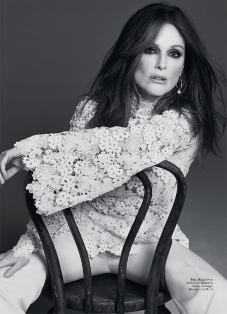 Julianne Moore Poses in Glam Looks for Marie Claire UK