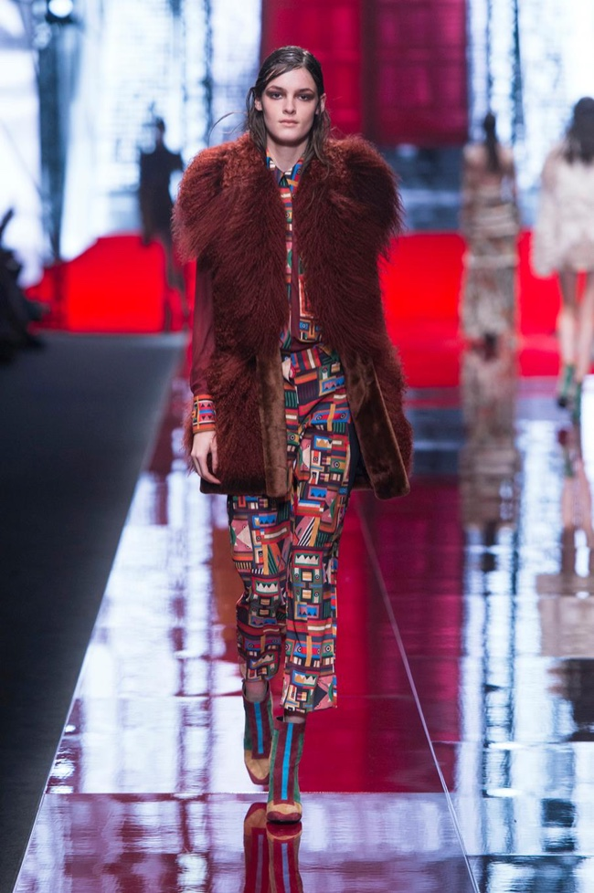 A look from Just Cavalli's fall-winter 2015 collection