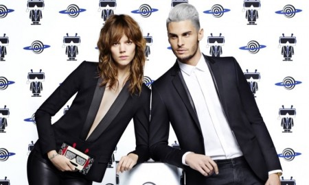 Freja Beha Erichsen and Baptiste Giabiconi star in Karl Lagerfeld's spring-summer 2016 campaign
