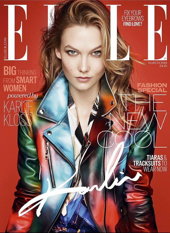Karlie Kloss on ELLE UK March 2016 cover