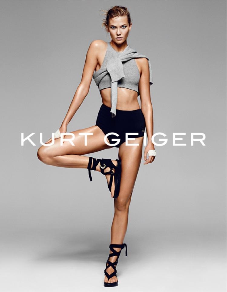 Karlie Kloss Gets A Workout In Kurt Geiger's Spring Ads
