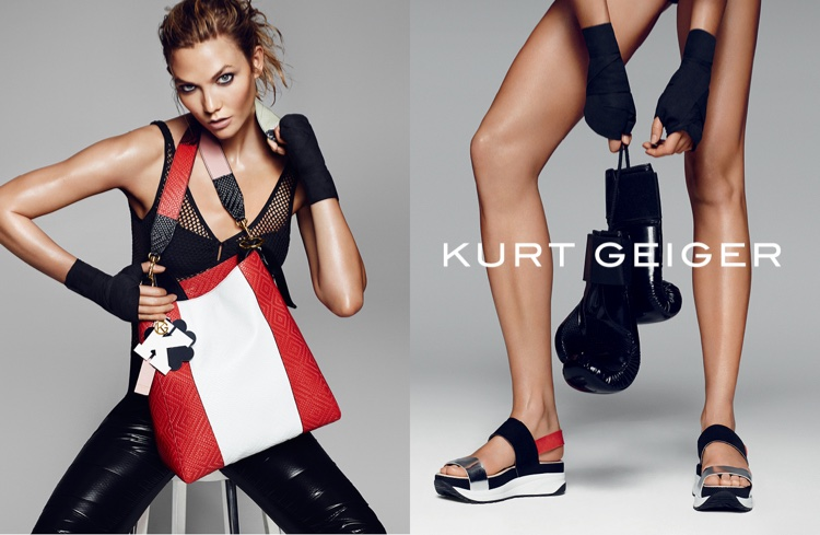 Karlie Kloss Gets a Workout in Kurt Geiger's Spring Ads