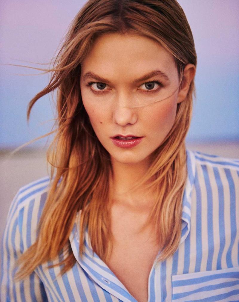 Karlie models stripe top from Marella