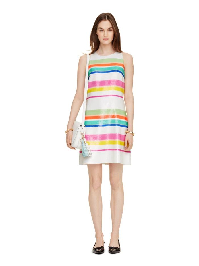 Kate Spade Cape Stripe Sequin Dress