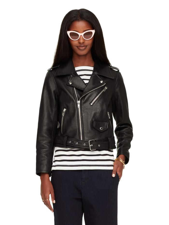 Kate Spade Leather Moto Jacket
