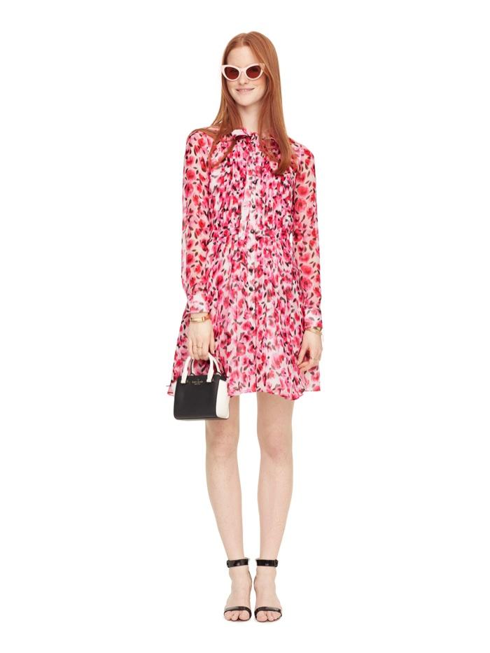 Kate Spade Mini Rose Pleated Shirtdress