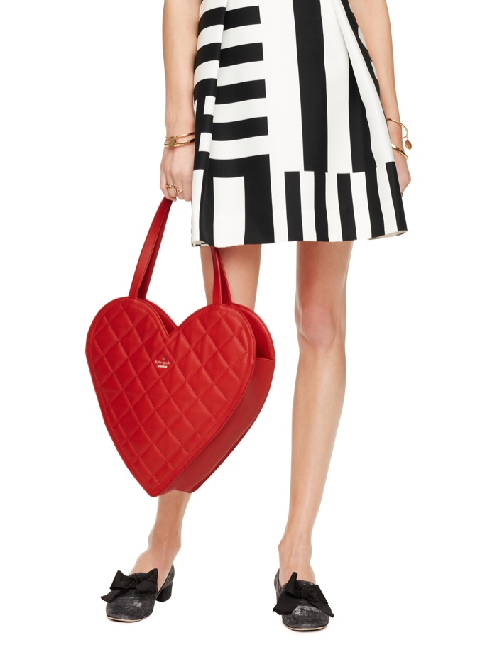 Kate Spade Quilted Heart Shaped Tote