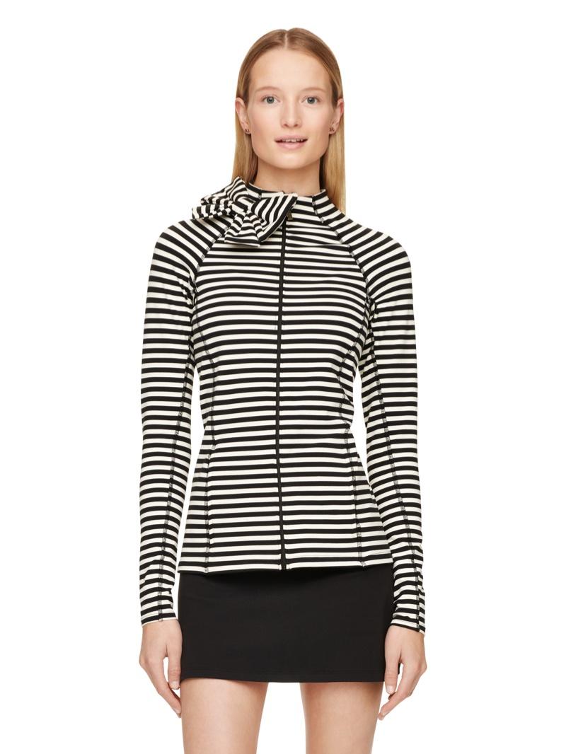 Kate Spade Bow Neck Striped Jacket