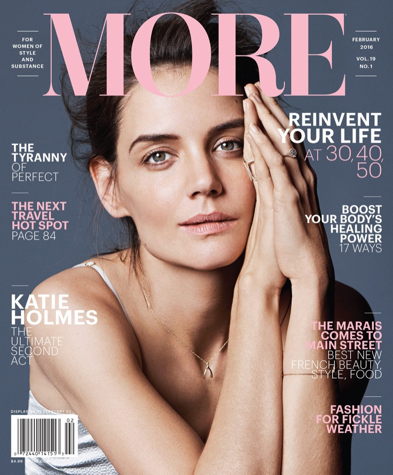Katie Holmes on More Magazine February 2016 cover