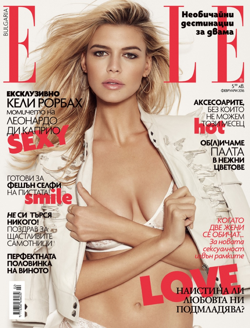 Kelly Rohrbach on ELLE Bulgaria February 2016 cover