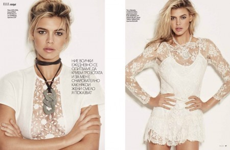 Kelly Rohrbach Shows the Sexy Way to Wear White in ELLE Bulgaria