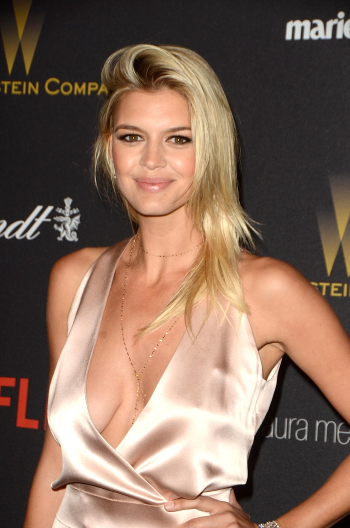 JANUARY 2016: Kelly Rohrbach attends the Weinstein Company's 2016 Golden Globes Party wearing Dion Lee dress. Photo: CarlaVanWagoner / Shutterstock.com