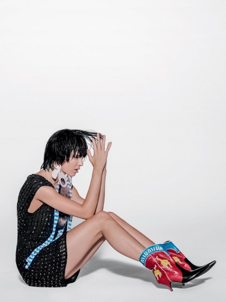 Kendall Jenner Channels Club Kid Fashion in Vogue Brazil Editorial