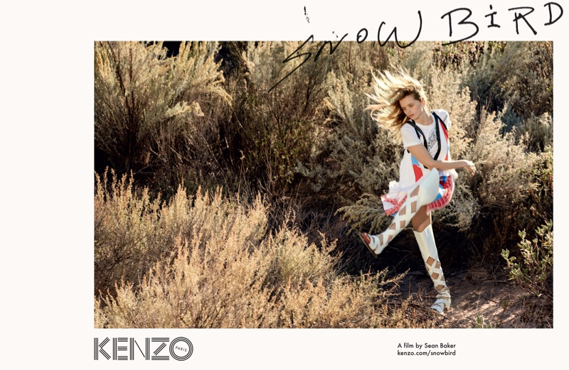 Abbey Lee Heads Outdoors for Kenzo's Spring 2016 Campaign