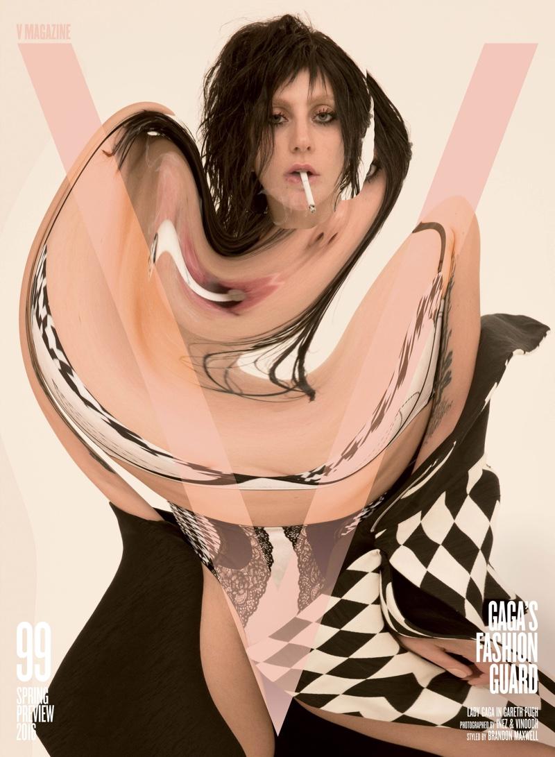 Lady Gaga on V Magazine #99 Cover. Photo: Inez & Vinoodh
