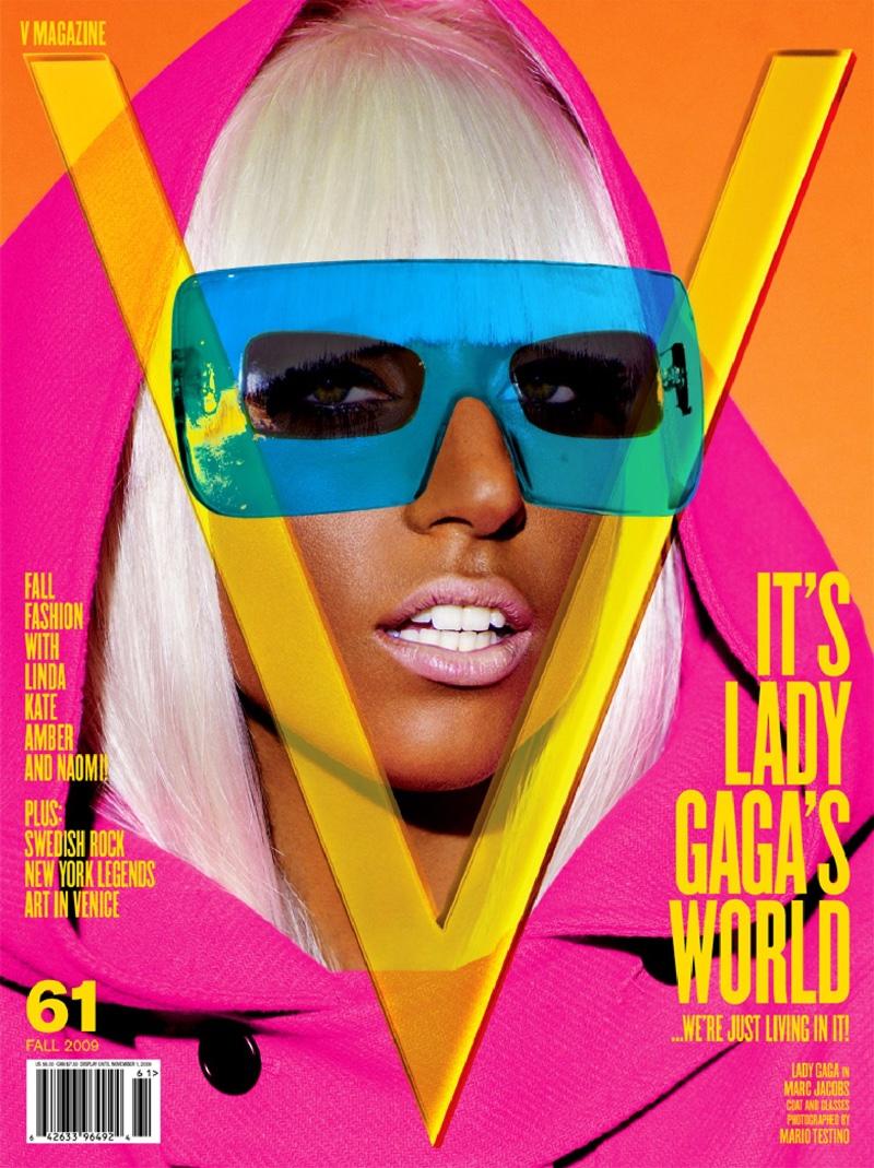 2009: Lady Gaga on V Magazine #61 cover
