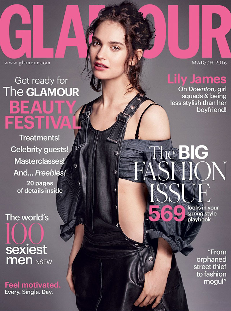 Lily James Rocks Overalls On Glamour UK Cover