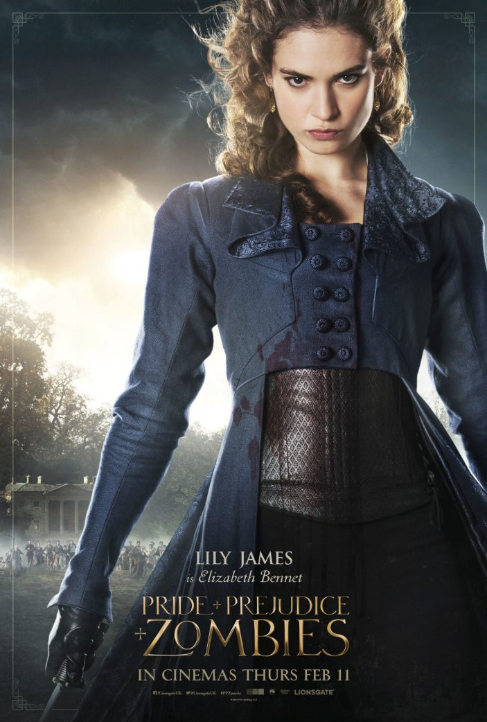 Lily James on Pride and Prejudice and Zombies poster